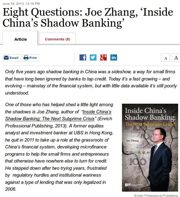 8 questions Joe Zhang